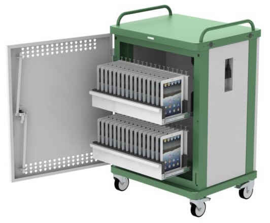 Top-Tec TS40S TabStore 40 Unit iPAD Sync & Charge Trolley