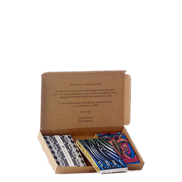 Box of Soul Chocolate mini bars