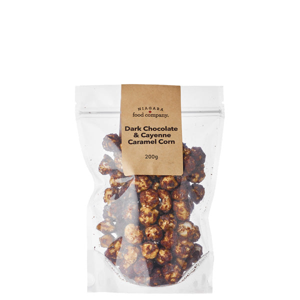 Niagara Food Co. Dark Chocolate Cayenne Caramel Corn