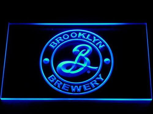 Brooklyn Brewery Beer Pub Bar LED Neon Sign 011 - Blue