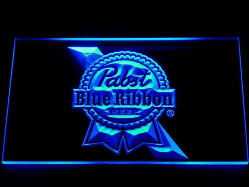 Pabst Blue Ribbon Beer LED Neon Sign 014 - Blue