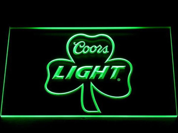 Coors Light Shamrock LED Neon Sign