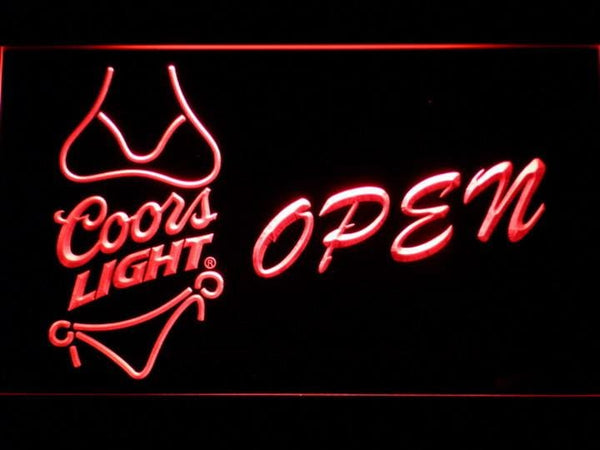 Coors Light Bikini Beer OPEN LED Neon Sign