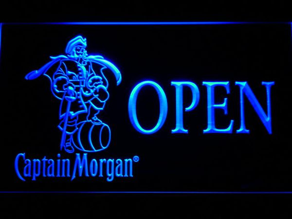 Captain Morgan Open LED Neon Sign 053 - Blue