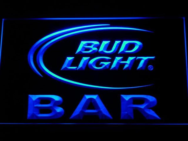 Bud Light Bar LED Neon Sign 093 - Blue