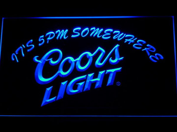 Coors It's 5 pmomewhere LED Neon Sign