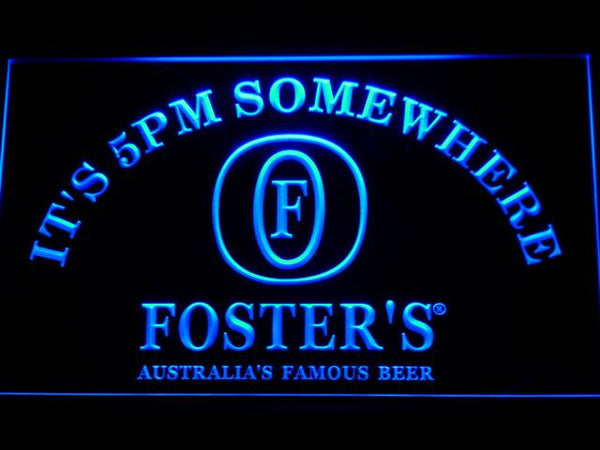 Foster's It's 5pm Somewhere LED Neon Sign 100 - Blue