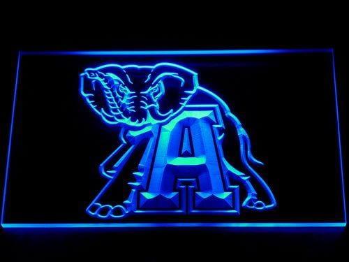 Alabama Crimson Tide NCAA Football LED Neon Sign 104 - Blue