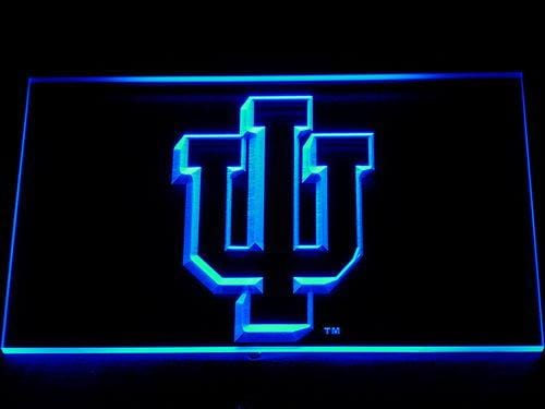 Indiana Hoosiers NFL Football LED Neon Sign 107 - Blue