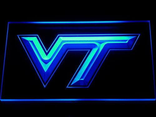 Virginia Tech Hokies Football LED Neon Sign 111 - Blue