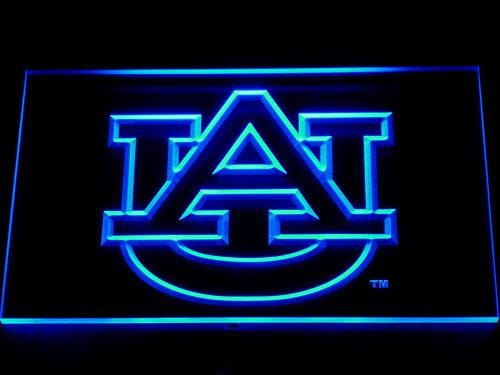 Auburn Tigers NFL LED Neon Sign 115 - Blue