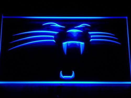 Carolina Panthers Panther LED Neon Sign 122 - Blue