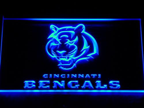 Cincinnati Bengals Football LED Neon Sign 125 - Blue