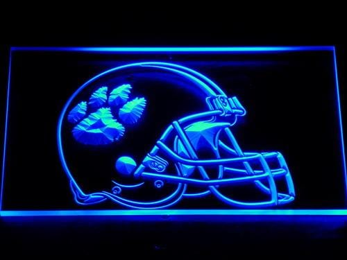 Clemson Tigers NCAA Football LED Neon Sign 158 - Blue