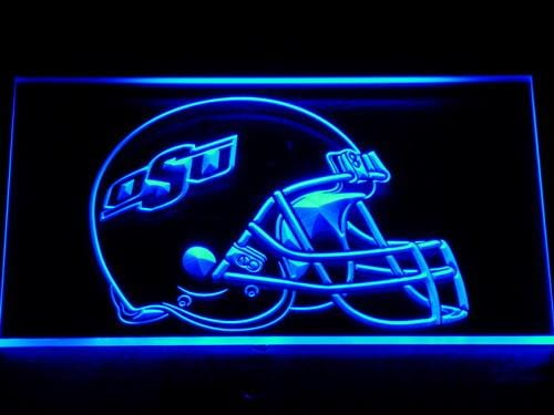 Ohio State Buckeyes Helmet LED Neon Sign 179 - Blue