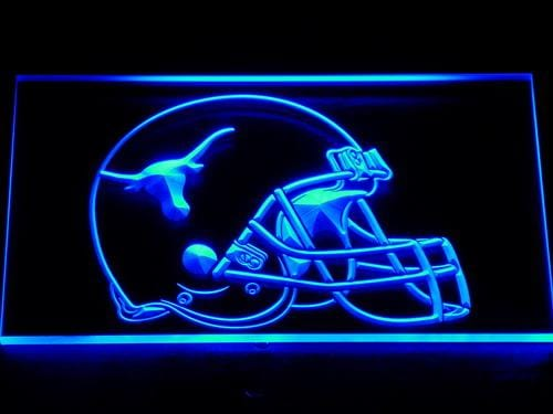 Texas Longhorns Helmet Football LED Neon Sign 186 - Blue