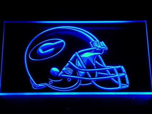 Green Bay Packers Helmet LED Neon Sign 202 - Blue