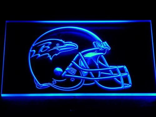 Baltimore Ravens Helmet LED Neon Sign 231 - Blue