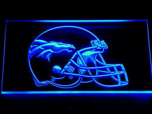 Denver Broncos Helmet LED Neon Sign 237 - Blue