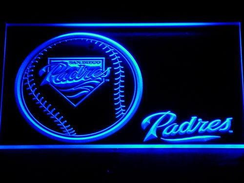 San Diego Padres Baseball LED Neon Sign 278 - Blue
