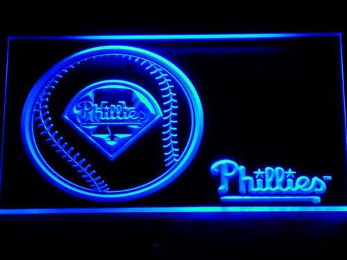 Philadelphia Phillies Baseball LED Neon Sign 279 - Blue