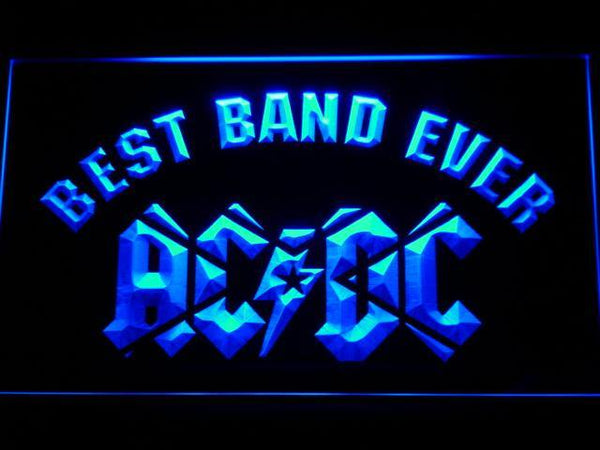 AC/DC Star Best Band Ever LED Neon Sign 321 - Blue