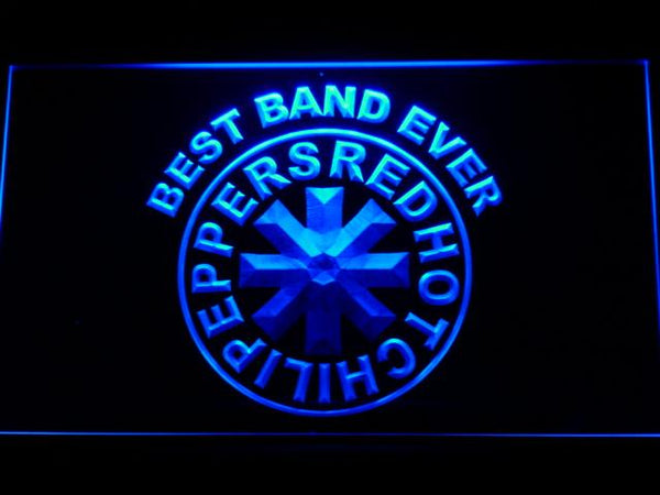 Red Hot Chili Peppers Best Band Ever LED Neon Sign 322 - Blue