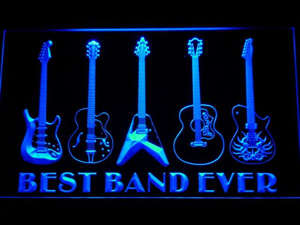Guitar Weapon Best Band Ever LED Neon Sign 324 - Blue