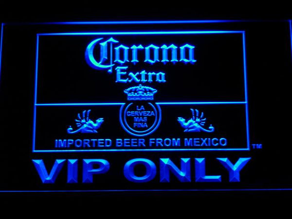 Corona Extra Vip Only LED Neon Sign 417 - Blue