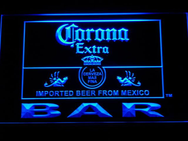 Corona Bar Beer Extra LED Neon Sign 418 - Blue