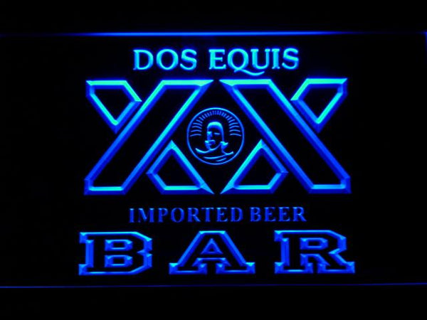 Dos Equis XX Beer Bar LED Neon Sign 421 - Blue