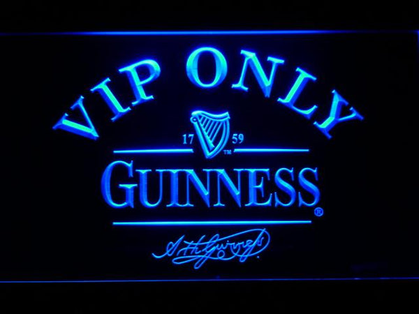 Guinness Signature Vip Only LED Neon Sign 426 - Blue