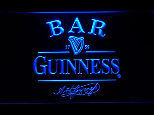 Guinness Signature Bar LED Neon Sign 427 - Blue