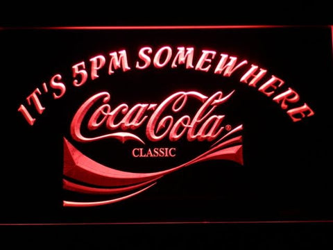 Coca-Cola It's 5pm Somewhere LED Neon Sign 431 - Red