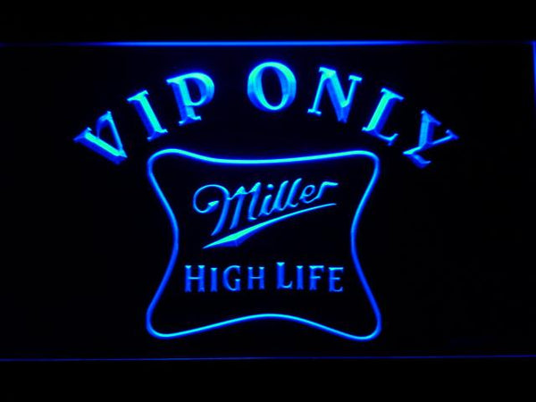 Miller High Life Vip Only LED Neon Sign 435 - Blue