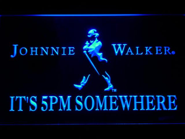 Johnnie Walker It's 5pm Somewhere LED Neon Sign 440 - Blue
