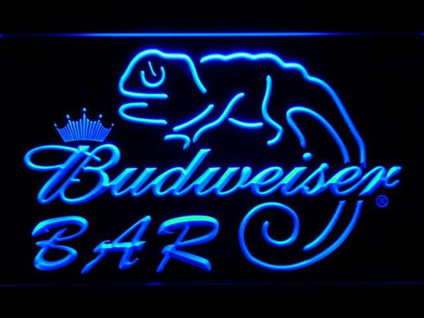 Budweiser Lizard Bar LED Neon Sign 442 - Blue