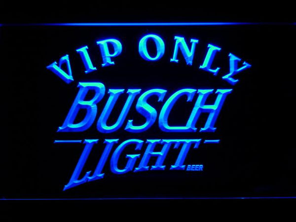Busch Light Vip Only LED Neon Sign 444 - Blue