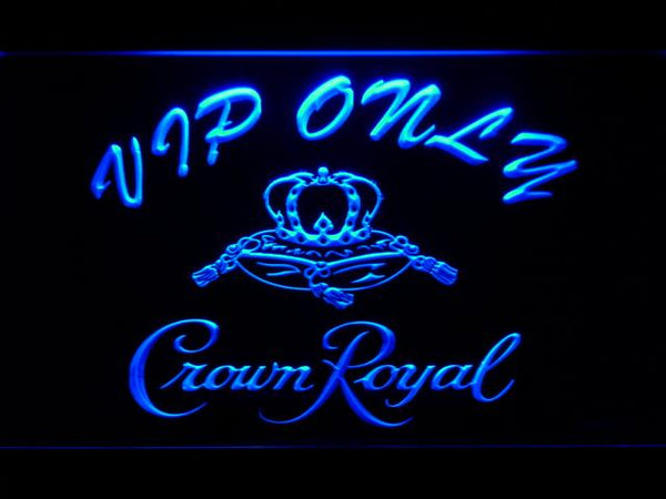Crown Royal Vip Only LED Neon Sign 453 - Blue