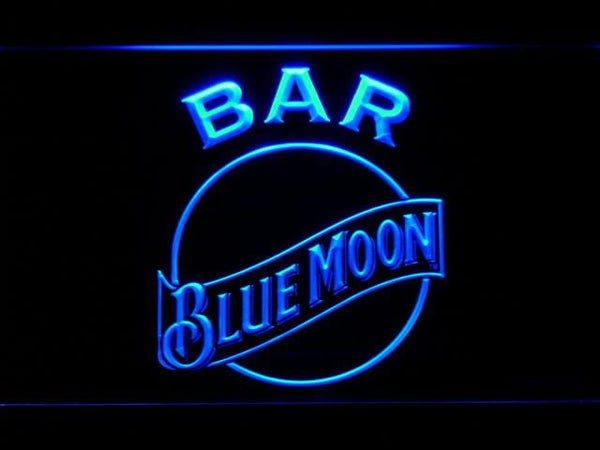 Blue Moon Bar LED Neon Sign 463 - Blue