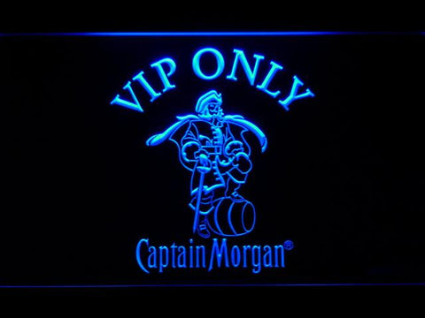 Captain Morgan Vip Only LED Neon Sign 465 - Blue