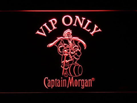 Captain Morgan Vip Only LED Neon Sign 465 - Red