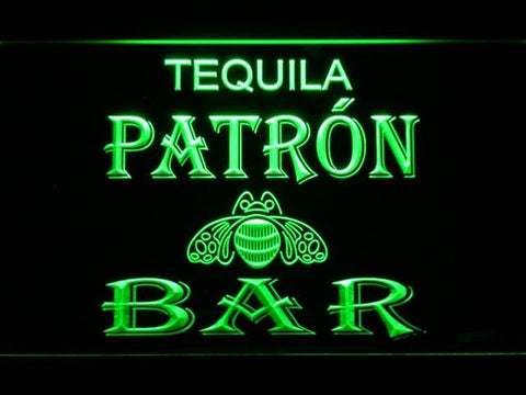 Patron Tequila Bar Pub LED Neon Sign 475 - Green