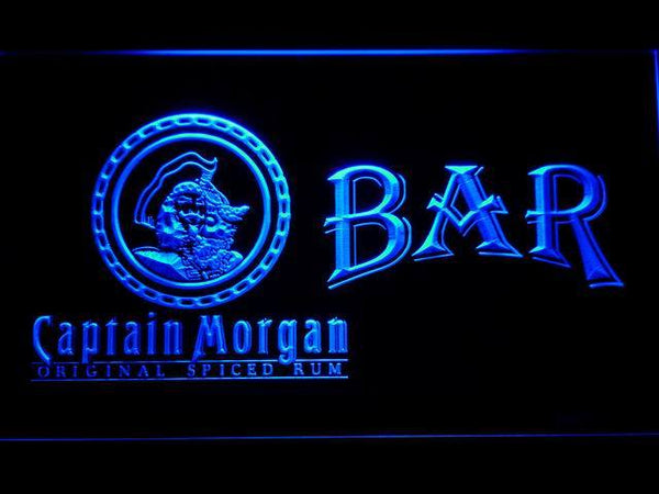 Captain Morgan Original Bar LED Neon Sign 493 - Blue