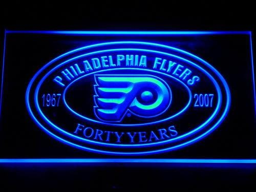 Philadelphia Flyers 40th Anniversary LED Neon Sign 524 - Blue