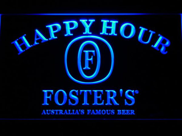 Foster's Happy Hour LED Neon Sign 604 - Blue