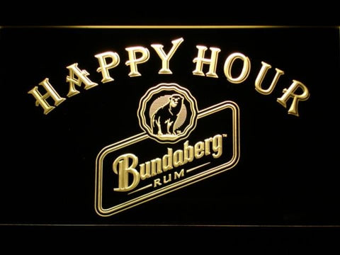 Bundaberg Rum Happy Hour LED Neon Sign 647 - Yellow