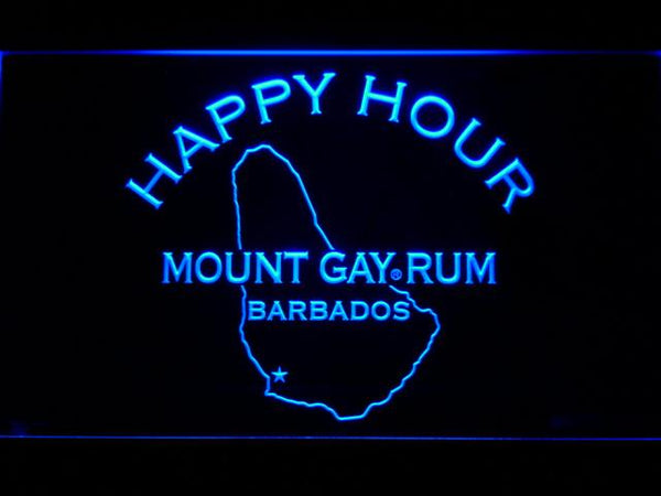 Mount Gay Rum Happy Hour LED Neon Sign 648 - Blue