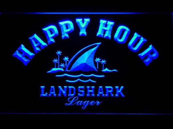 Landshark Lager Beer Happy Hour LED Neon Sign