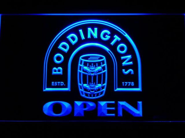Boddingtons Open LED Neon Sign 662 - Blue